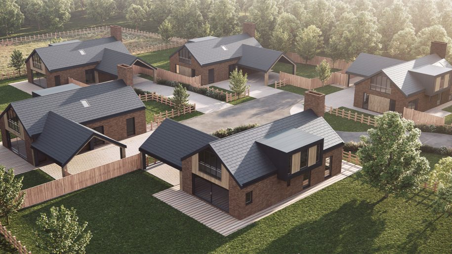 Snape Lane Crewe residential visualisation by Cheshire architects