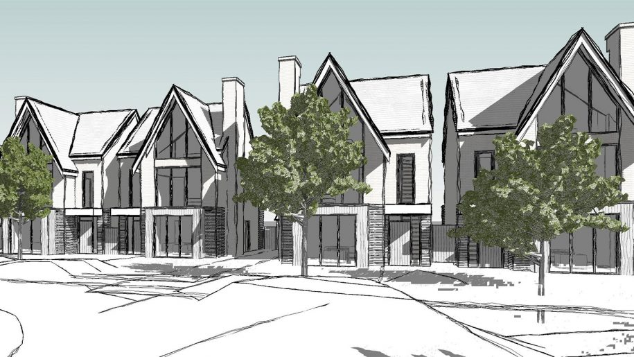 North West architect multiple housing drawing